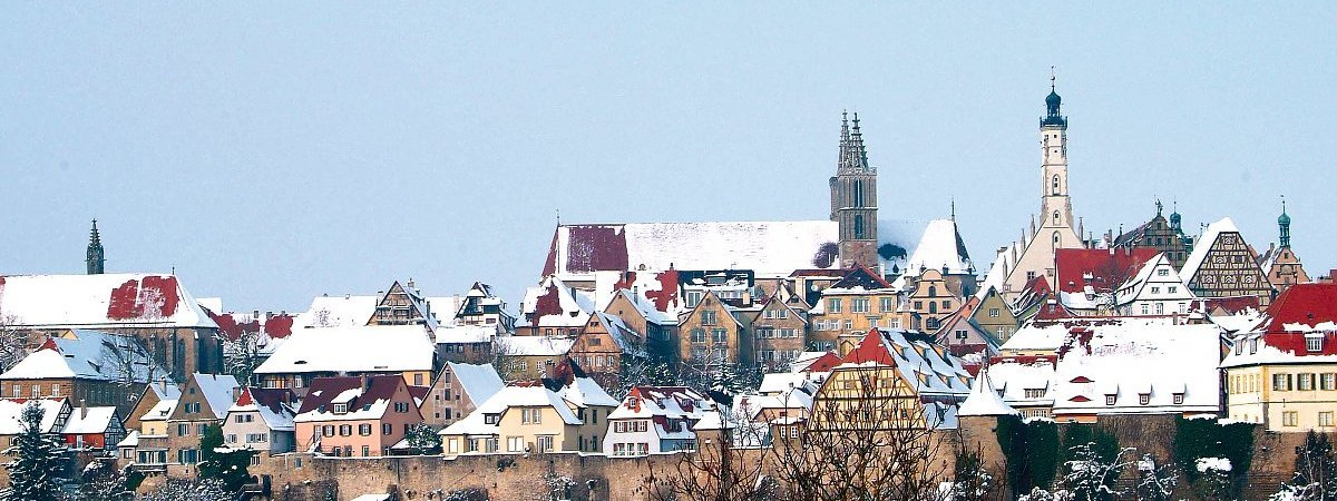 Rothenburg o.T. - Winterpanorama © Michael Leyh/Rothenburg Tourismus Service